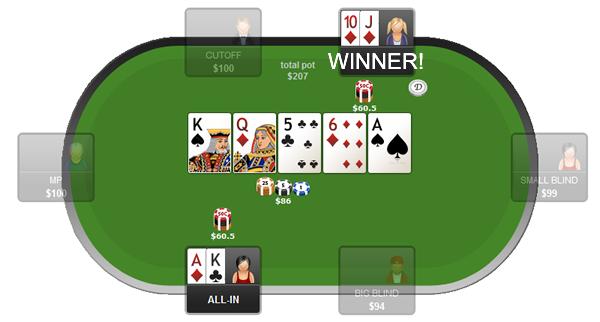 Poker Texas Holdem - Gameplay - Showdown