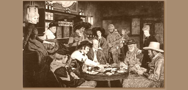 Playing Texas Holdem in a saloon